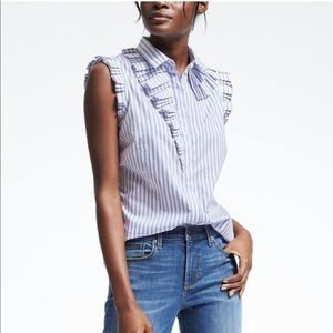 Banana Republic Riley Shirt w/ ruffles